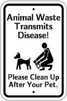 18 x 12 Animal Waste Transmits Disease