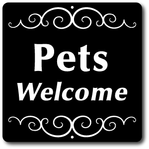 Aluminum Pet Sign With Stake Pets Welcome