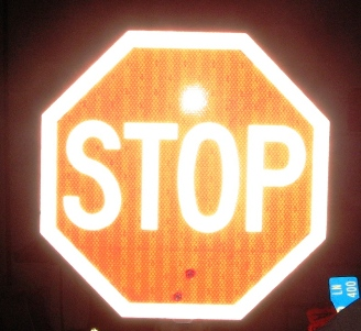 Reflective Hand Held Stop Sign