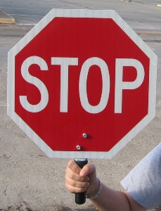 Aluminum Hand Held Stop Sign