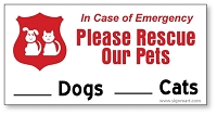 10 Pack - 2 Inch x 4 Inch Pet Rescue Window Stickers - Please Rescue Our Pets