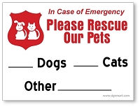 10 Pack - 3 Inch x 4 Inch Pet Rescue Window Stickers - Please Rescue Our Pets