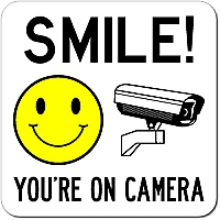picture relating to Smile You're on Camera Sign Printable titled Smile Youre Upon Digicam Protection Signal
