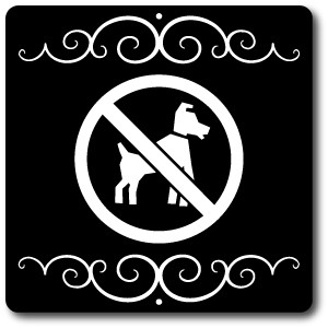 "8"" x 8"" Aluminum Sign with Yard Stake: No Dogs Allowed Symbol"
