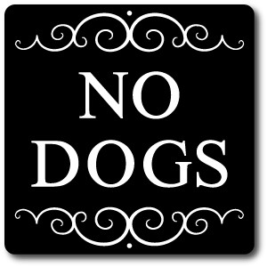 "8"" x 8"" Aluminum Pet Sign with Stake"