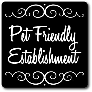 "8"" x 8"" Aluminum Sign with Yard Stake: Pet Friendly Establishment Sign"