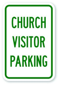 "18"" x 12"" Church Visitors Parking Sign"