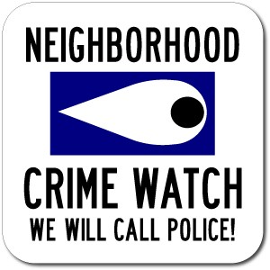 Neigborhood Crimewatch Sign