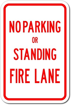 "18"" x 12"" No Parking Or Standing Fire Lane (209-FCVA)"