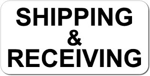 12 inch x 24 inch Aluminum SHIPPING AND RECEIVING Sign