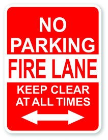 "24"" x 18"" No Parking Fire Lane Keep Clear At All Times"