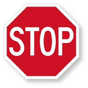 .080 High Impact Solid Plastic Stop Sign: Available In 4 Sizes 8, 12, 15, and 18 inch